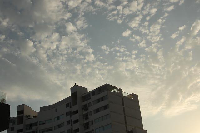 Beautiful Clouds over Miraflores, Lima, Peru