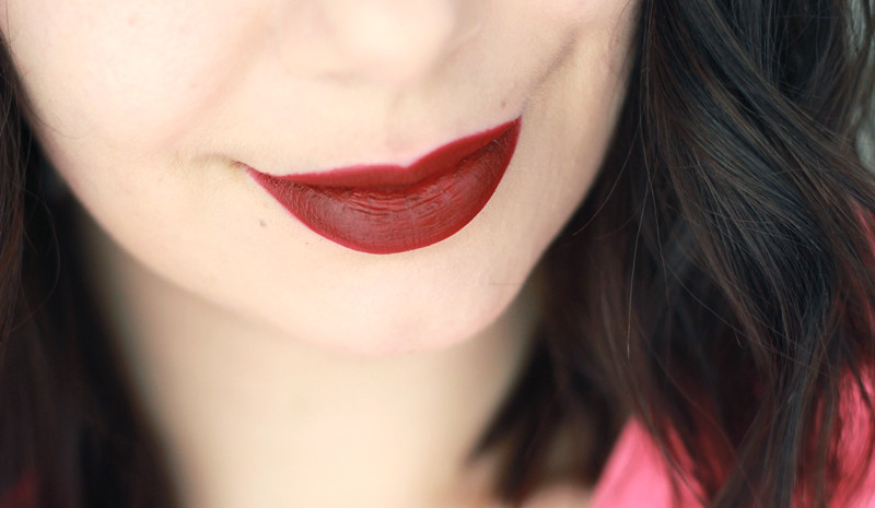 MAC Charlotte Olympia Retro Red Swatch