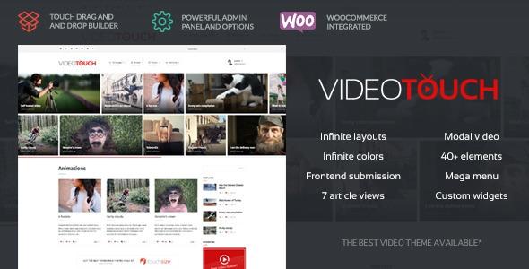 VideoTouch v1.8.2 - Video WordPress Theme