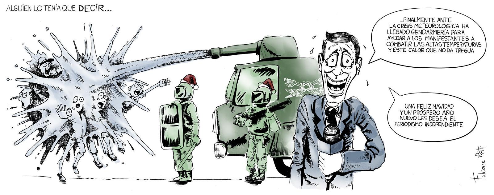 Represión en Cresta Roja