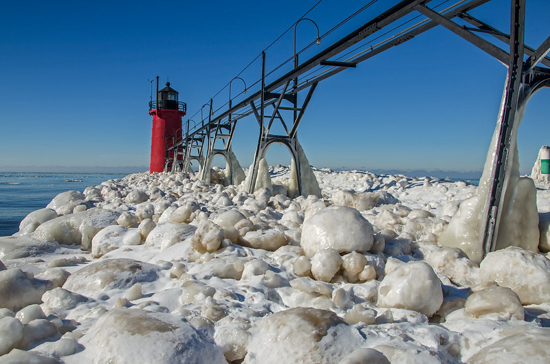 Ice Balls at South Haven