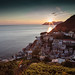 Sun sets down on sleppy Riomaggiore by ivan.kovacevic