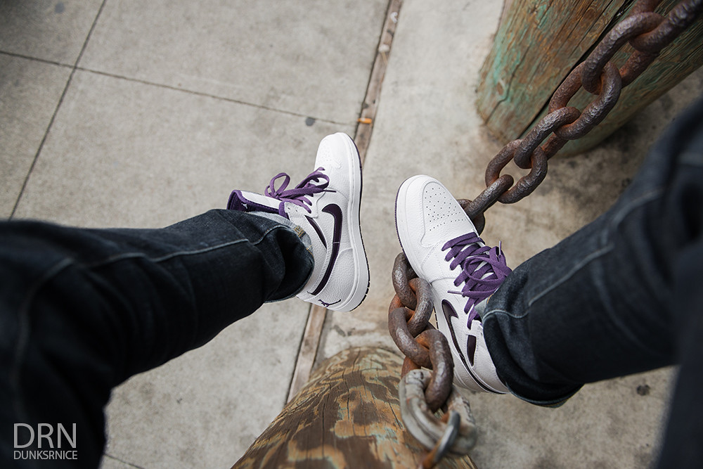 2009 Metallic Purple & White I's.
