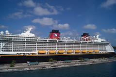 Disney的船在旁边
