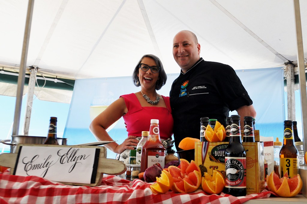 Celebrity Chef Emily Ellyn Gave a Cooking Demo during 2015 Clearwater Beach Uncorked, Food, Wine &; Beer Festival.