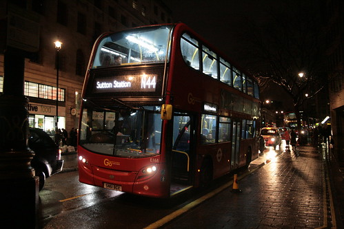 London Central E168 on Route N44, Charing Cross Station