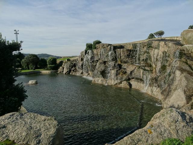 Laguna en el parque de Bens en A Coruña