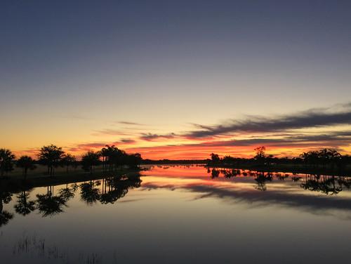 sky lake water sunrise pond florida magichour goldenhour avemaria