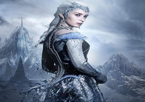 Emily Blunt As Ice Queen Huntsman Winters War Wallpaper - StylishHDWallpapers