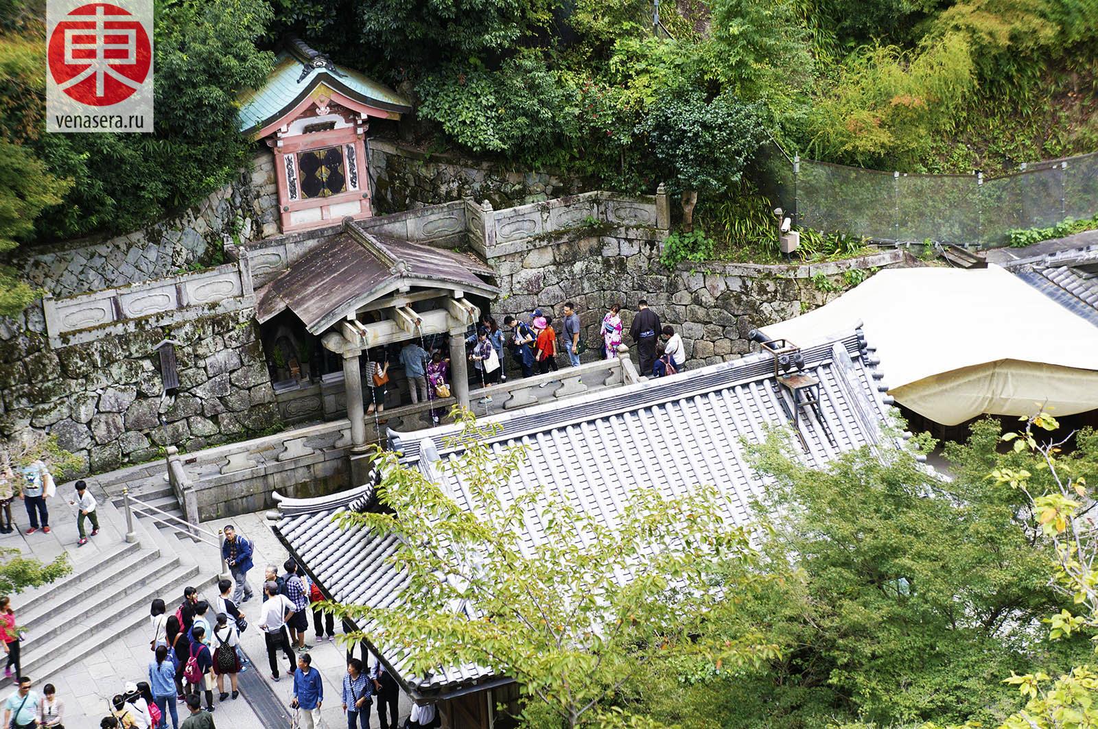 Отова Но Таки в Киёмидзу-дэра, Храм Киёмидзу-дэра в Киото, 清水寺, Киото, Kyoto, 京都, Япония, Japan, 日本.