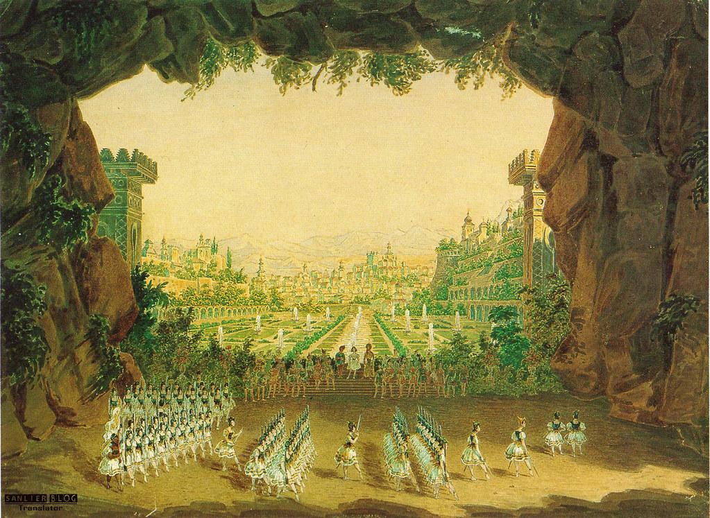 19世纪芭蕾剧舞台设计02