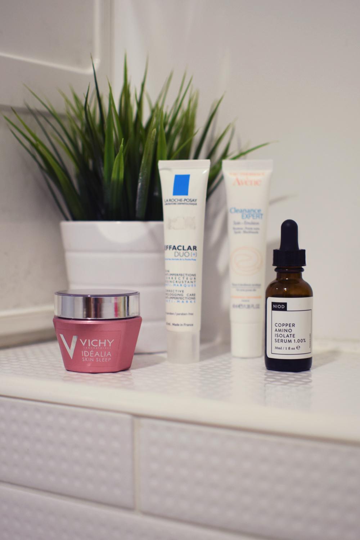 Evening skincare treatments