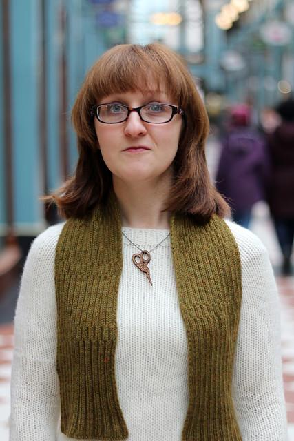 Lesley by Hannah Fettig, Knitbot, In John Arbon Aran Yarn