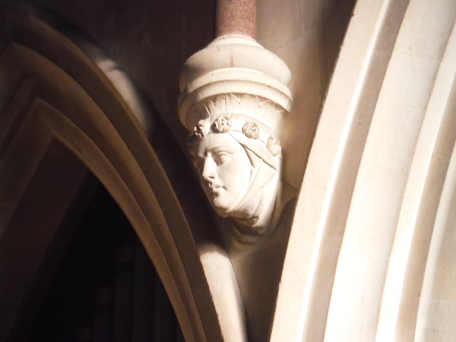 Corbel in St. Matthew's, Midgham SWC Walk 117 Aldermaston to Woolhampton (via Stanford Dingley)
