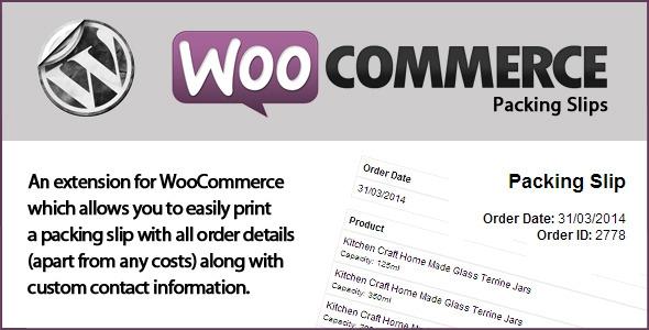 CodeCanyon WooCommerce Packing Slips v1.4