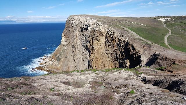 Atop Santa Cruz Island