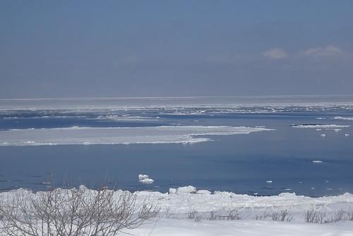 流氷、ノロッコ号からのオホーツク海