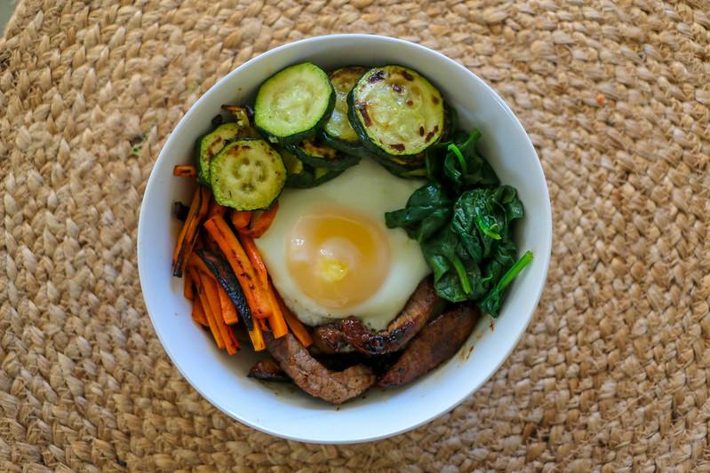 02.21. Bibimbap - Korean rice bowl with beef and veggies