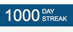 1000 Day Streak