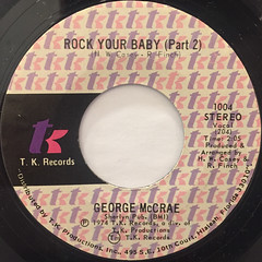 GEORGE MCCRAE:ROCK YOUR BABY(LABEL SIDE-B)
