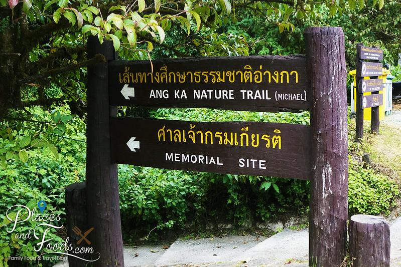 doi inthanon ang ka nature trail signage