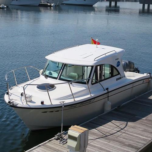 こちらのボートに乗りました。レンタルもしています。