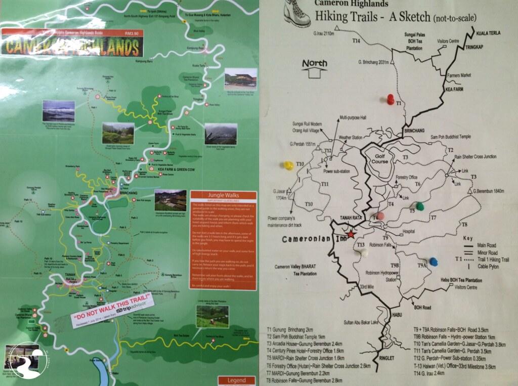 Mapas Cameron Highlands