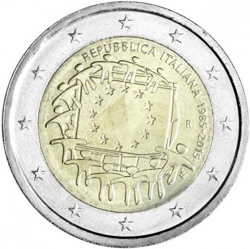 2 EURO Taliansko 2015 - EU vlajka