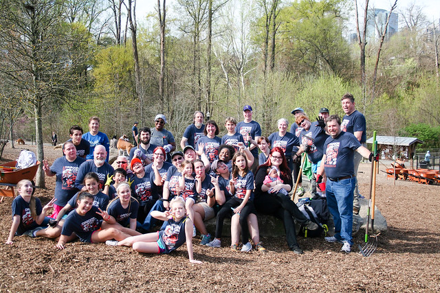 2016 Dragon Con Superheroes:  Clean Up Day at Piedmont Park with Georgia Conservancy