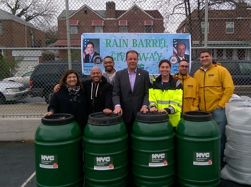 Bronx Rain Barrel Giveaway with Senator Klein and Assembly Member Gjonaj