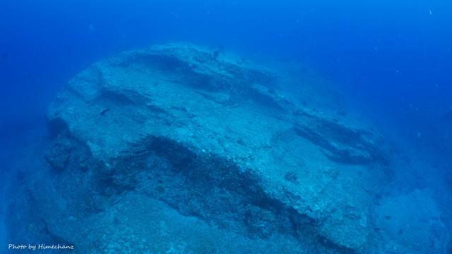 石垣島的海底遺跡風景色w