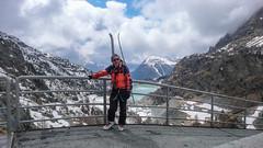 Widok z zapory na jezioro Lago di Gera na Lago di Campo Moro - to ja.