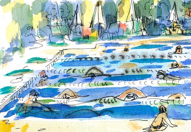 Sketchbook #95: Swim Team