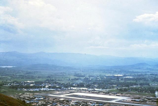 DUC PHO 1969-70 by John Davidson - Phi trường Đức Phổ nhìn từ trên Núi Dàng (aka Montezuma Mountain)