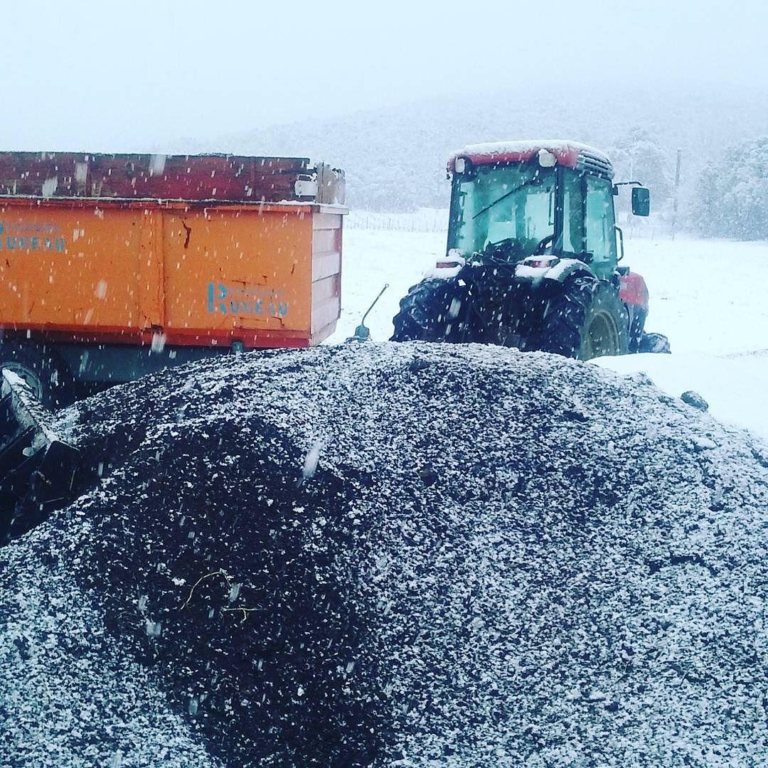 la photo du jour sur notre blog : Black and white , neige, compost, photodujour, instagram, beauregardmirouze
