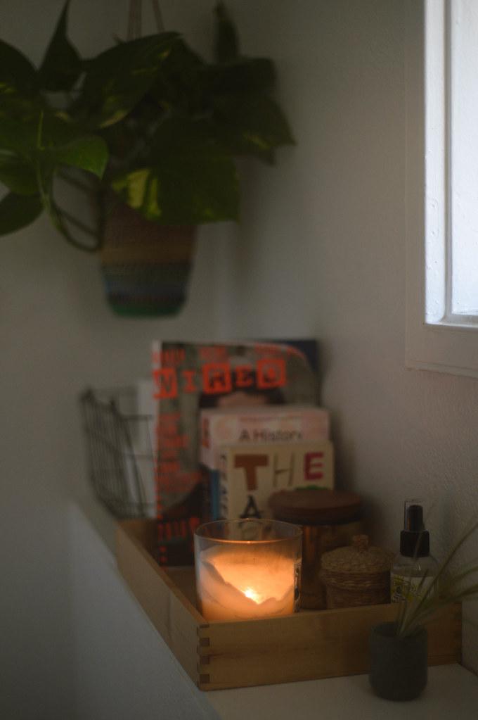 bathroom candle