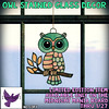 [ free bird ] Owl Stained Glass Decor - Midnight Mania
