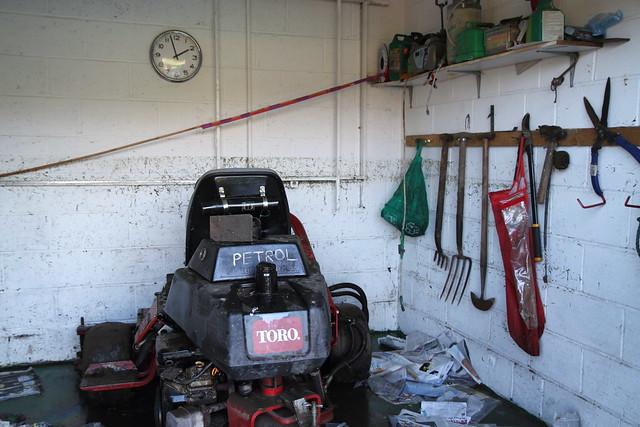 A tidemark above the mower