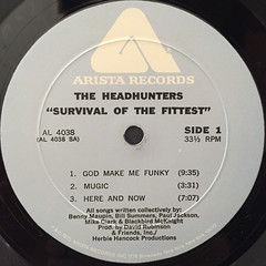 THE HEADHUNTERS:SURVIVAL OF THE FITTEST(LABEL SIDE-A)