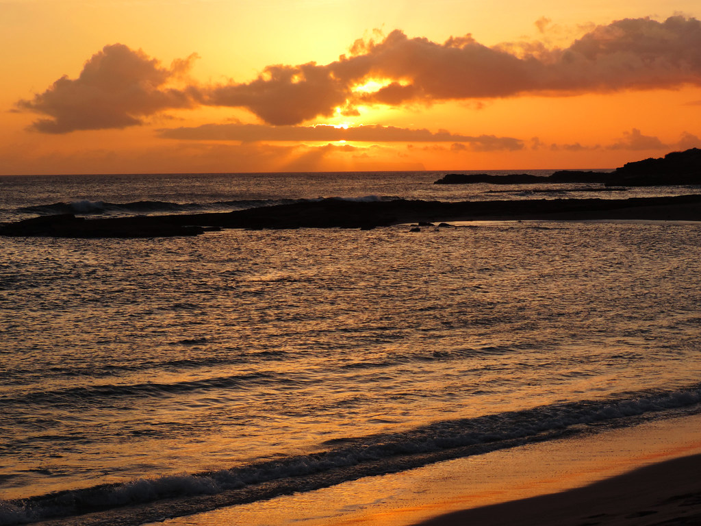 Salt Pond Beach sunset, Kauai, Hawaii