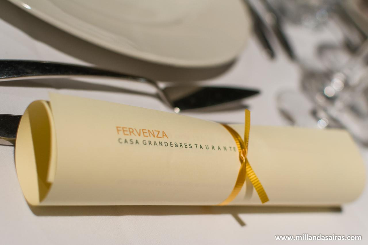 Presentación del menú de Casa Grande A Fervenza