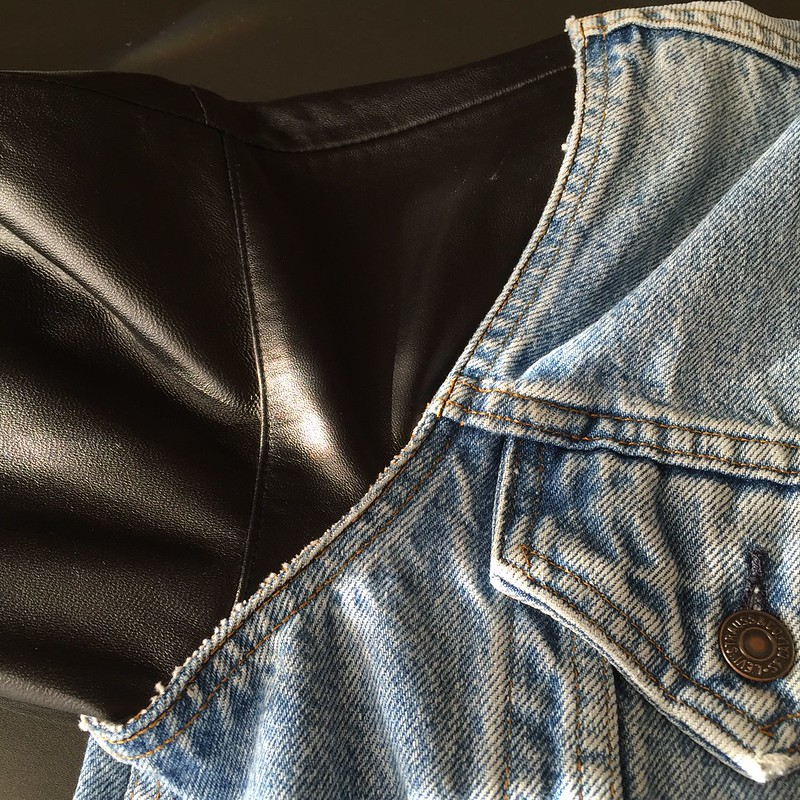Denim & Leather Jacket - In Progress