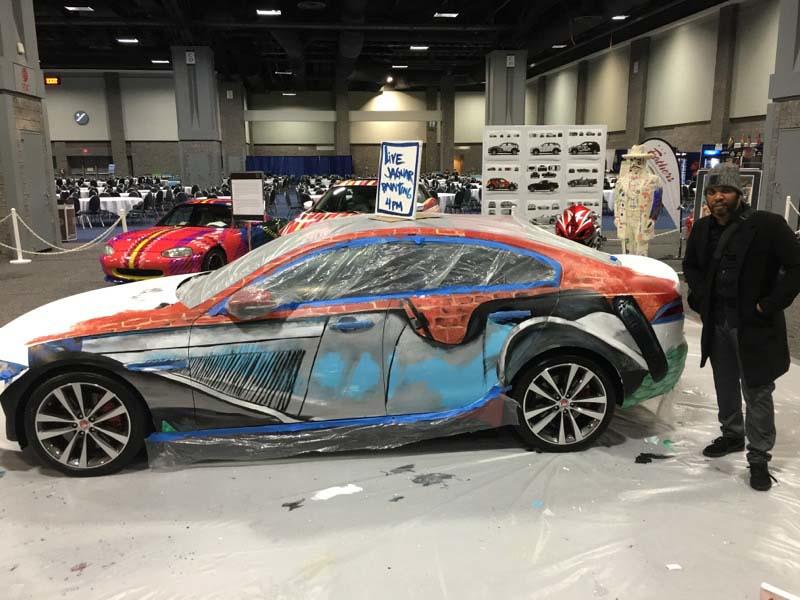 Jaguar XE ARTofMotion At The Washington Auto Show - Washington car show