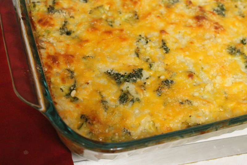 Cheesy Chicken Broccoli Casserole, 1