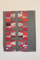 Modified Dresden Hand Quilted Mini Quilt