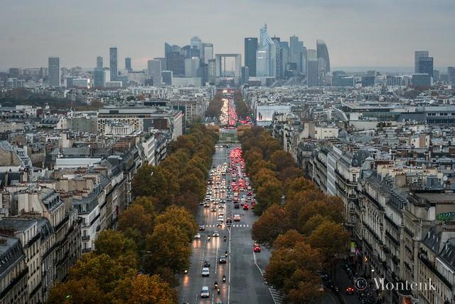 The city from the Triumph Arc, Paris, France (2014)