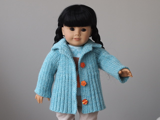 "Cabbagetown Jacket knitting pattern for 18"" Dolls"