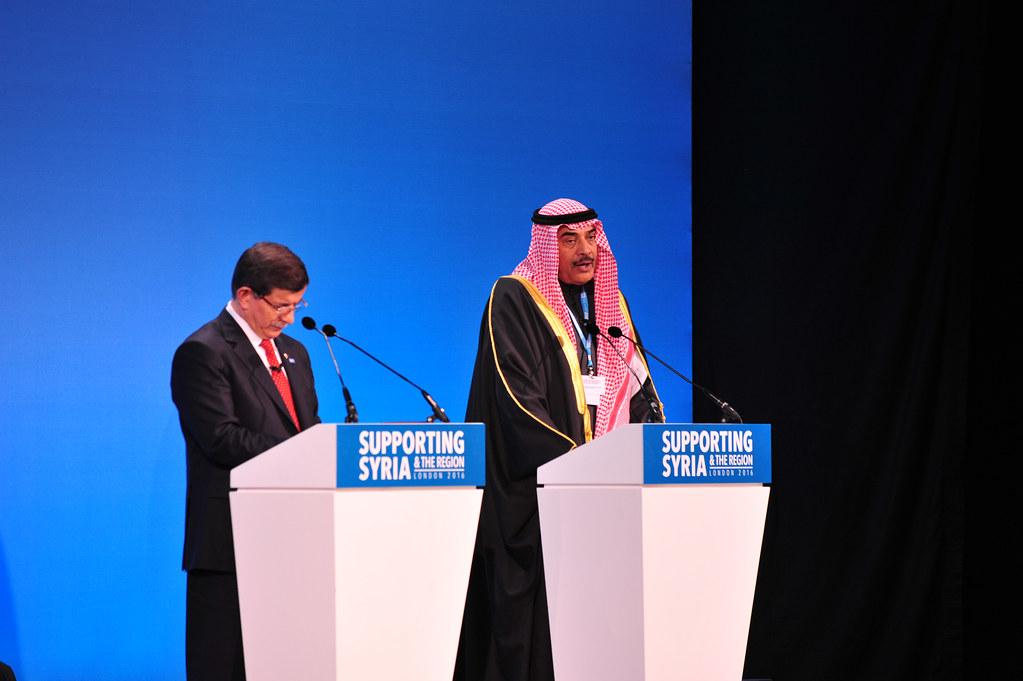 Sheikh Sabah Al-Khalid Al-Sabah, First Deputy Prime Minister of Kuwait and Prime Minister Ahmet Davutoglu of Turkey