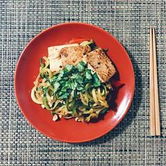 Vegan Tofu Zucchini Noodles