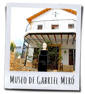Casa Museo Gabriel Miró aan de Plaza de los Chorros in Polop in het achterland van de Costa Blanca